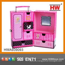 Модный бумажный розовый чемодан для детей