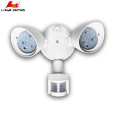 Самый лучший продавая двойной-головы 2x10 Вт светодиодов открытый безопасности свет стены свет потока с датчиком для селитебного применения