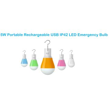 Lâmpada portátil recarregável de emergência com LED