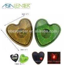 Luz de la caminata de la noche de la forma del corazón de la alta calidad LED