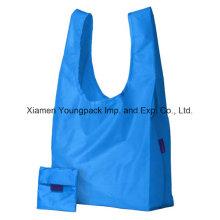 Werbung kundenspezifische wiederverwendbare 100% Polyester-Tuch faltbare Einkaufsträger-Tasche