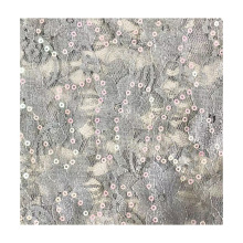 africa high quality 2020 sequin fembroidered bead 100% polyester  fabric for women garments