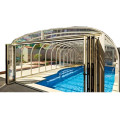 Skum Sikkerhed Round Dome Glidende Swimming Pool Cover