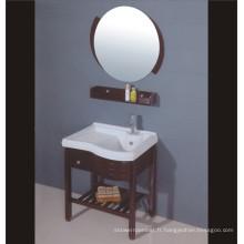 Cabinet de salle de bains en bois de chêne (B-198)