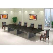 Table de conférence en placage de bois massif de style classique (HF-FHY1002)