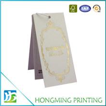 Custom Logo Gold Foil Clothing Hang Tags