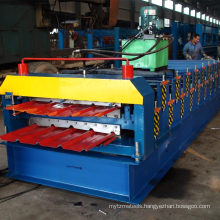 XN 840+900 glazed and flat floor double layer metal tile making machinery