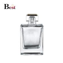 косметической упаковки 100 мл высокое качество ясный квадратный стеклянный флакон пустой галантерейных насос брызга стеклянная бутылка дух производит