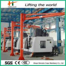 Pillar-Mounted 0.5-1ton Cantilever Crane for Workshop Use