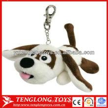Promotional cão recheado brinquedos personalizados chaveiro de pelúcia