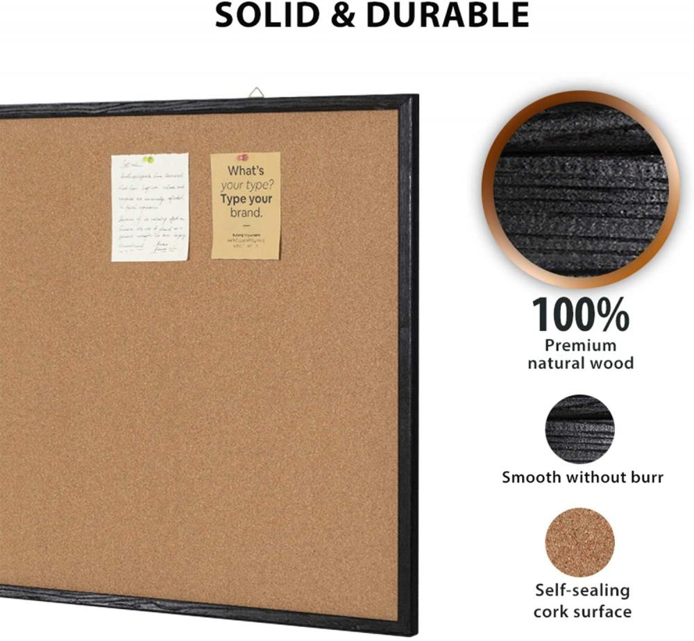 36x24inch Bulletin board with Black Frame