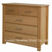 High-Quality Oak Bedroom 5 Drawers Storage Dresser Chest (HC28)