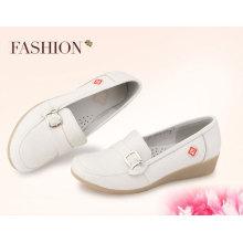 Fashion women pumps heels pure white nursing shoes 2016