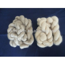 Mongolian cashmere tops brown and light grey 16.5mic/44mm