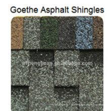 Telha do telhado do asfalto de Goethe / autoadesivo Telha de telhado da fibra de vidro / material de telhadura do betume com ISO (12 cores)