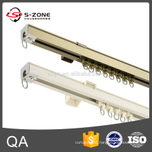 straight large ropes pulley holdbacks curtain rail track pole silent gliss for doors and windows
