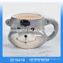 2016 nova chegada lovel cerâmica urso iogurte copo, copo de mousse de cerâmica de iogurte