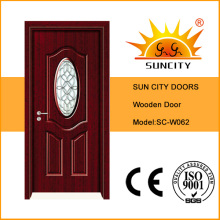 Puertas interiores de madera con vidrio