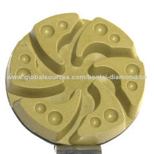 Polishing pads for grinding and polishing concrete and stone