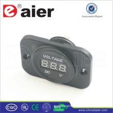 Daier Car/Motorcycle 12V Digital Panel Voltmeter Power Socket