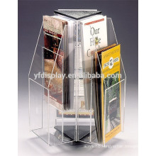 high quality rotating clear acrylic brochure holder for advertising display