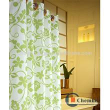 Printed Hookless Shower Curtain Fire Sprinkler Water Bath Curtain