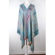 Silk & Wool Jacquard Scarf (12-BR010207-3.1)