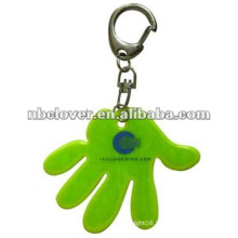 finger shape pvc reflective toy with keyring