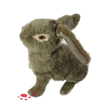 Country Dog Toy Plush Stuffed Rabbit Juguete para mascotas