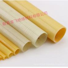 Tubo de tecido de fibra de vidro epóxi com propriedades dielétricas altas