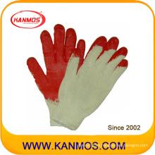 Industrial de seguridad de algodón tejido de látex guante de trabajo de mano revestida (52101)