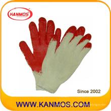 Промышленная безопасность Хлопчатобумажная трикотажная латексная ручная перчатка (52101)