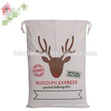 Оптовая продажа высокое качество популярные льна Рождественские сумки