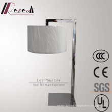 European Hotel Decorative Chrome Bedside Table Lamp with Acrylic Diffuser