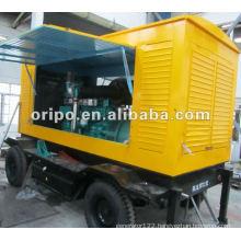 yuchai engine yc6t660l-d20 trailer mounted generator set with four wheels