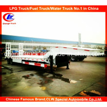 Heavy Duty 2 Axle Low Loader Semi Trailer with Mechanical Ramps