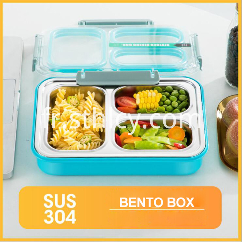3 Compartments Food Snack Container
