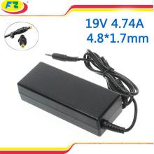 Adaptador de la CA del ordenador portátil 90w 19v 4.74a 4.8 * 1.7mm para el conectador del cargador del ordenador portátil del hp