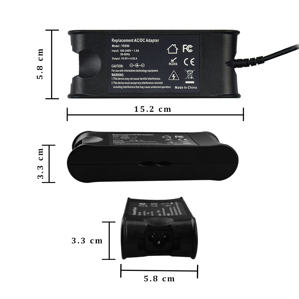 90w laptop adapter charger for dell