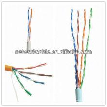 4 pares CCA CAT5 UTP LAN cabo com CE, RoHS, Fluke Marks, 60 ou 75 graus Celsius Temperatura nominal