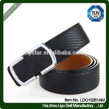 Man Formal Wide Black Ceinture en cuir véritable pour entreprise / Cintos de cuir en cuir pour homme