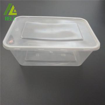 Takeaway micro-ondes transparent pp boîte de nourriture en plastique