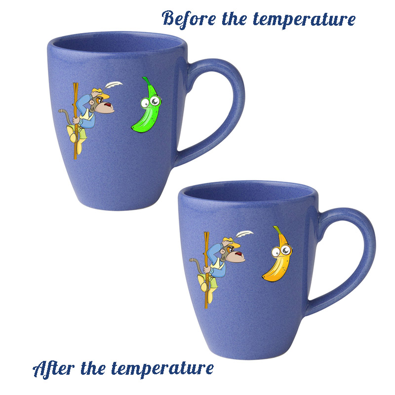The cartoon sticker that can change the temperature