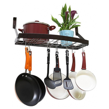 Jual Hot Kitchen Wall Pot Rack dengan Hooks