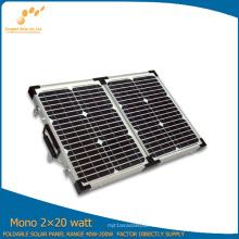 Tipo plegable que acampa del panel solar 40W para cargar el coche eléctrico