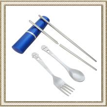Conjunto de Chopsticks com dobradiça em aço inoxidável (CL1Y-CS206C)