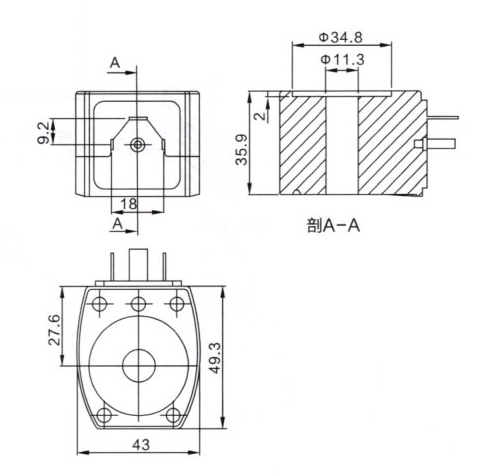 Dimension of BB11436248 Solenoid Coil: