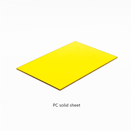 Feuille solide en polycarbonate transparent