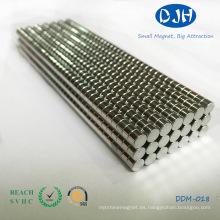 Imanes de alta calidad del neodimio de la tierra rara del disco (DDM-018)