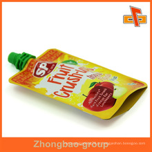 Saco de suco de plástico reasealable personalizado para suco de frutas 90ml